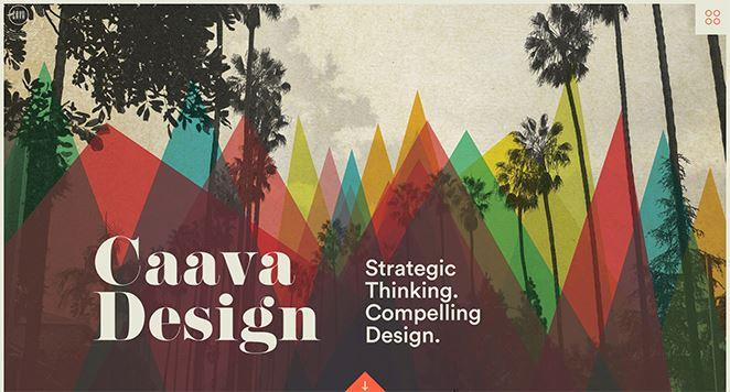 caava design agency homepage