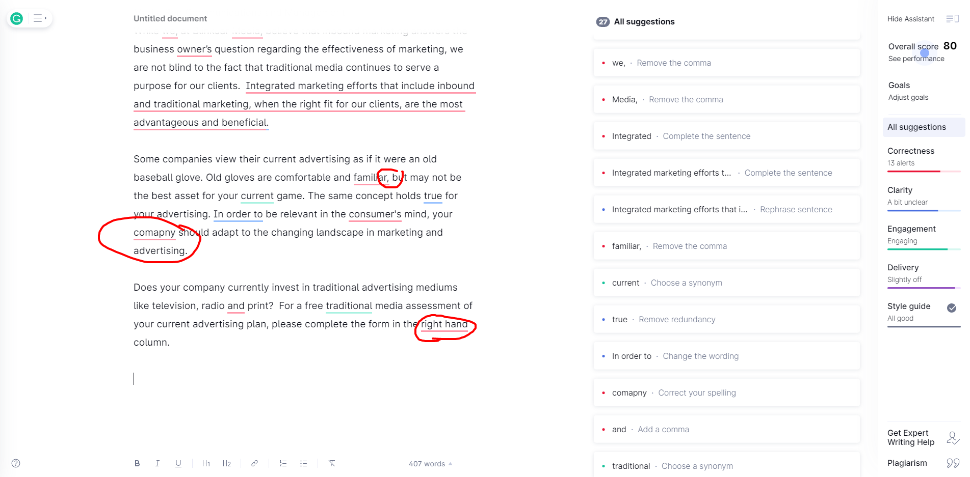 grammarly sample 2.17.21