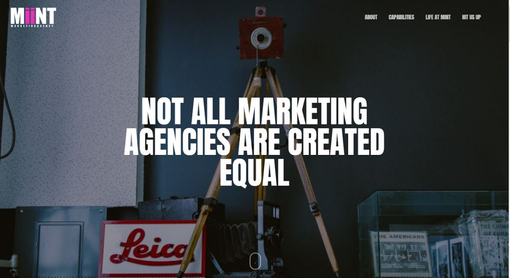 mint marketing agency website