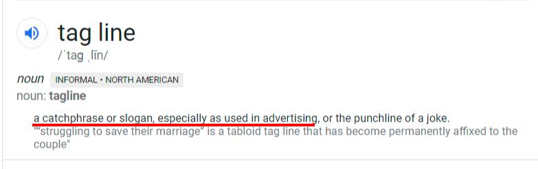 tagline definition-1